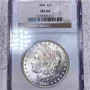 1884 Morgan Silver Dollar NGC - MS64