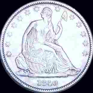 1840 Seated Half Dollar CLOSELY UNCIRCULATED