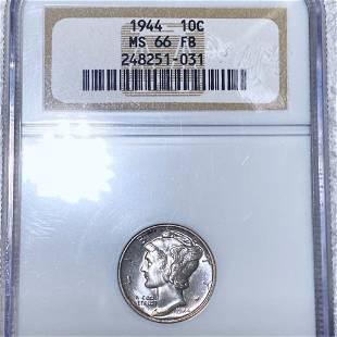 1944 Mercury Silver Dime NGC - MS 66 FB