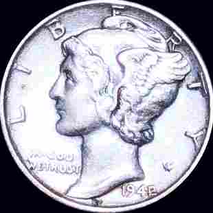 1942/1 Mercury Silver Dime CLOSELY UNCIRCULATED