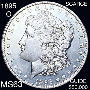 1895-O Morgan Silver Dollar CHOICE BU