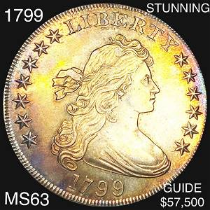 1799 Draped Bust Dollar CHOICE BU