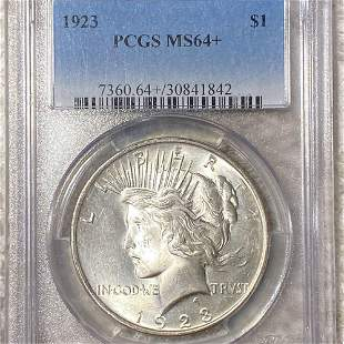 1923 Silver Peace Dollar PCGS - MS64+