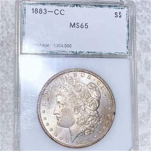 1883-CC Morgan Silver Dollar PCI - MS65