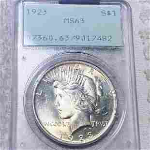 1923 Silver Peace Dollar PCGS - MS63