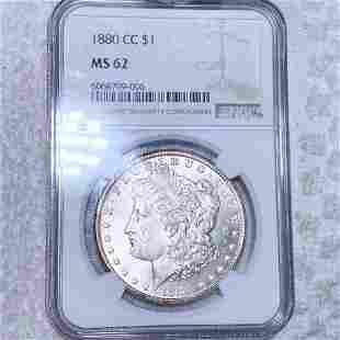 1880-CC Morgan Silver Dollar NGC - MS62