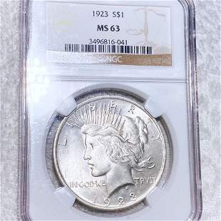 1923 Silver Peace Dollar NGC - MS63