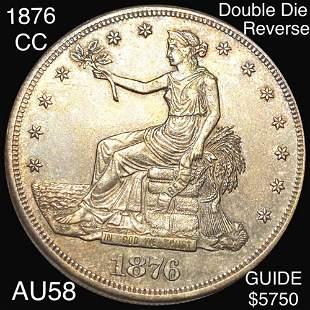1876-CC DDR Silver Trade Dollar CHOICE AU