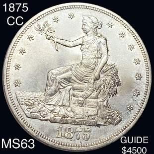 1875-CC Silver Trade Dollar CHOICE BU