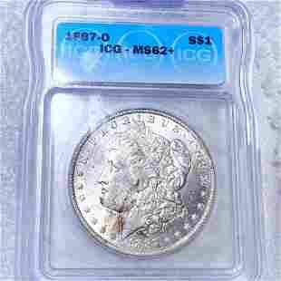 1887-O Morgan Silver Dollar ICG - MS62+