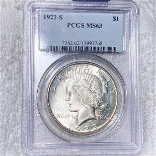 1923-S Silver Peace Dollar PCGS - MS63