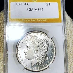1891-CC Morgan Silver Dollar PGA - MS62