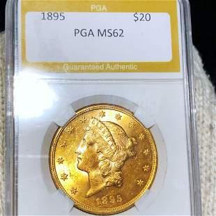 1895 Morgan Silver Dollar PGA - MS62