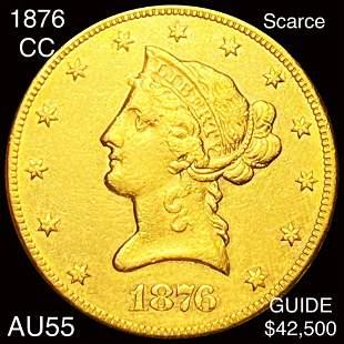 1876-CC $10 Gold Eagle CHOICE AU
