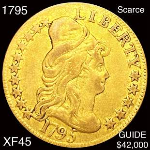 1795 $5 Gold Half Eagle LIGHTLY CIRCULATED