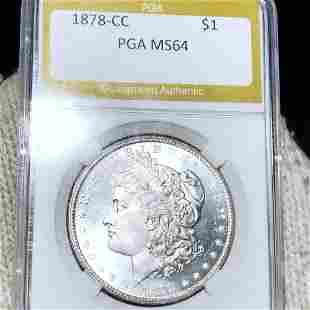 1878-CC Morgan Silver Dollar PGA - MS64