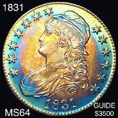 1831 Capped Bust Half Dollar CHOICE BU