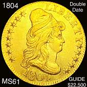 1804 $5 Gold Half Eagle UNCIRCULATED DOUBLE DATE