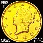 1850-D Rare Gold Dollar CHOICE BU