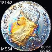 1814/3 Capped Bust Half Dollar CHOICE BU