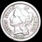 1888 Three Cent Nickel XF