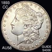 1893-CC Morgan Silver Dollar CHOICE AU