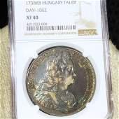 1783 Hungary Silver Taler NGC - XF40
