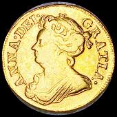 1714 Great Britain Gold 2 Guinea LIGHTLY CIRC