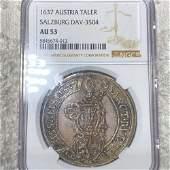 1637 Austria Silver Taler NGC - AU 53