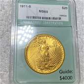 1911-S $20 Gold Double Eagle NTC - MS65