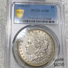 1889-CC Morgan Silver Dollar PCGS - AU50