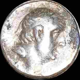 95-63 BC Antient Greece Silver Drachm LIGHT CIRC