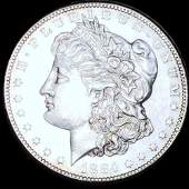 1884-S Morgan Silver Dollar CHOICE AU