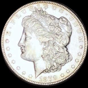 1879-CC Morgan Silver Dollar CLOSELY UNC