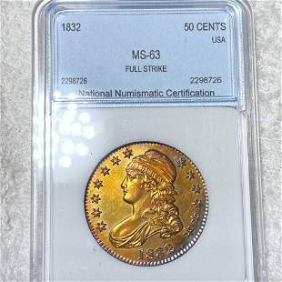 1832 Capped Bust Half Dollar NNC - MS63