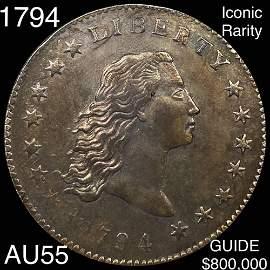 1794 Flowing Hair Silver Dollar CHOICE AU