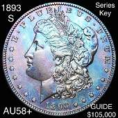 1893-S Morgan Silver Dollar CHOICE AU