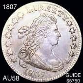 1807 Draped Bust Dime CHOICE AU