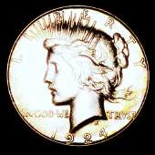 1924-S Silver Peace Dollar UNCIRCULATED