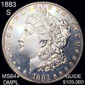 1883-S Morgan Silver Dollar CHOICE BU DMPL