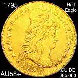 1795 $5 Gold Half Eagle CHOICE AU