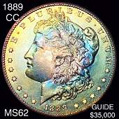 1889-CC Morgan Silver Dollar UNCIRCULATED