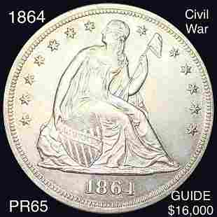 1864 Seated Liberty Dollar GEM PROOF