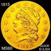 1813 $5 Gold Half Eagle UNCIRCULATED
