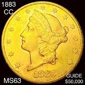 1883-CC $20 Gold Double Eagle CHOICE BU