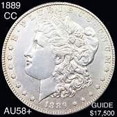 1889-CC Morgan Silver Dollar CHOICE AU