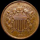 1864 Two Cent Piece UNCIRCULATED SML MOTTO