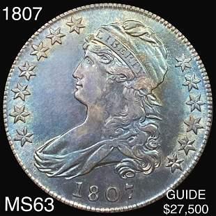1807 Capped Bust Half Dollar CHOICE BU