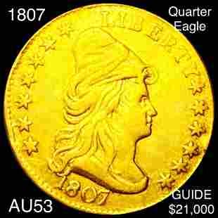 1807 $2.50 Gold Quarter Eagle CHOICE AU