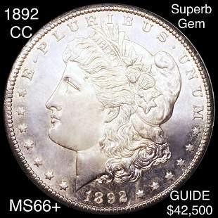 1892-CC Morgan Silver Dollar SUPERB GEM BU